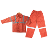 Orange Rubberized Rain Suit Reflective